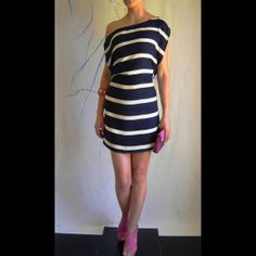 Navy Stripes, Blue Mini, Cruising dress, Coctail Party, Summer DRESS
