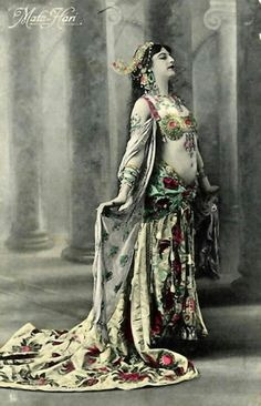 The Mata Hari in a vintage bellydance costume - c/o my dance company 'Tribal Angels'