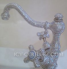 """Do you remember that commercial? """"Opulence - I has it.."""" :D Who wouldnt want wash their face under this opulent custom ICY COUTURE Swarovski Crystal faucet! Too much of a good thing? NEVER! :) Whats Your Crystal Color?"""