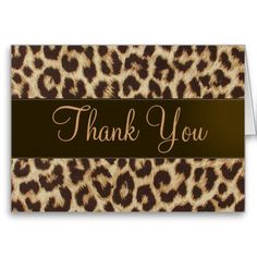 314 Best Leopard Print Thank You Card Images Print Thank You Cards