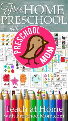 This Site is AMAZING!! Free Home Preschool with PreschoolMom.com Hundreds of free homeschool preschool resources, printables, curriculum ideads, thematic units, letter of the week and more! http://preschoolmom.com/