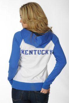 Sparkle! Kentucky Wildcats Raglan Fleece Jacket - University Girls Apparel