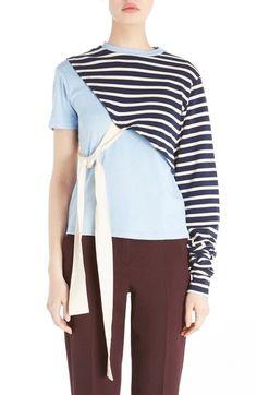 JACQUEMUS 'Le T-Shirt Noué' Asymmetrical Tee. #jacquemus #cloth #