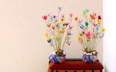 Ideas creativas con grullas de origami. | Aprender manualidades es facilisimo.com