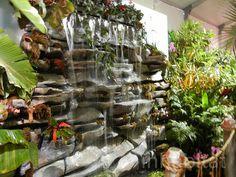 An indoor waterfall by Inhabitat