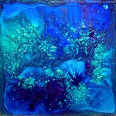 "Saatchi Art Artist Blue Moon - Heike Schmidt; Painting, ""Waterworld SOLD (USA)""…"