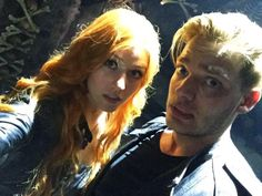 Clary and Jace at the City of Bones! #Shadowhunters