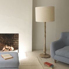 WOODBERRY Our Big Boy floor lamp has been so popular that we thought we'd offer a slightly more contemporary version too. The beautifully weathered mango wood and linen shade mean that everyone's a winner.