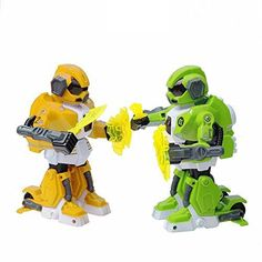 Haibei 78747263 Inch Rc Robot Radio Control Athletic Robot Remote Control Rc Robot Two Fighting Robot Two Robottwo Controllertwo Chargertwo Battery Green and Yellow -- Find out more about the great product at the image link.