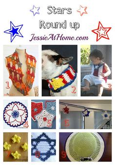 Stars crochet pattern round up from Jessie At Home