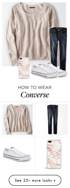 """""""Untitled #6159"""" by laurenatria11 on Polyvore featuring American Eagle Outfitters and Converse"""
