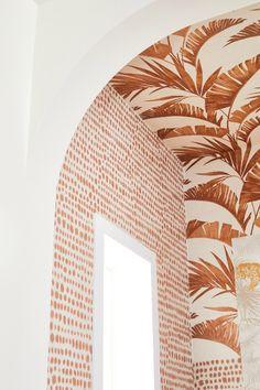 Home Interior Design, Interior Styling, Interior Decorating, Interior Wallpaper, Wall Wallpaper, Caribbean Homes, Orange Interior, Meraki, Home And Deco