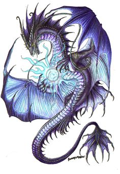 You thought dragons were bad, then you found a magic dragon. Now you're so dead. (Magic by Sunimo.deviantart...)