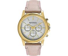Halyard Leather Chronograph Watch, Nude Leather, dynamic