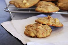 Apricot, White Chocolate and Macadamia Cookies - but with my true hate and disgust of apricots I would make these cookies and instead of Apricots use either dried cherries or cranberries.  I think that would work just fine.