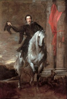Anthony Van Dyck (1627): Anton Giulio Brignole-Sale on horseback.
