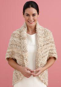 Easy+Crochet+Shrug+Pattern | Free Crochet Pattern L20507B Simple Crochet Shrug : Lion Brand Yarn ...
