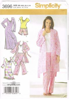 Sewing Pattern 2000s  Simplicity 3696  Misses' Pants Or