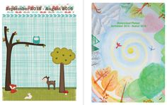 September 2015 - August 2016 Homeschool Planner 12 spaces per block, 2 cover choices and BONUS menu planning pages
