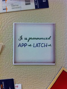 It Is Pronounced Appalachia magnet by xoxopress on Etsy, $3.00