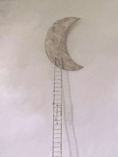 ladder to the moon - sculpture by Antoine Jossé.