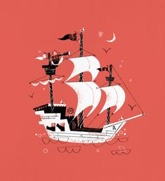 Pirate Ship by Joshua Gille ★ Find more at http://www.pinterest.com/competing/