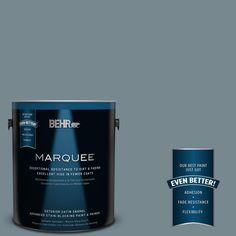 BEHR MARQUEE 1-gal. #N470-5 Norwegian Blue Satin Enamel Exterior Paint