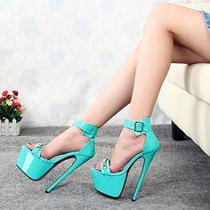 sapatas das mulheres sexy toe aberto stiletto sapatos sandálias de salto partido mais cores disponíveis – BRL R$ 290,67