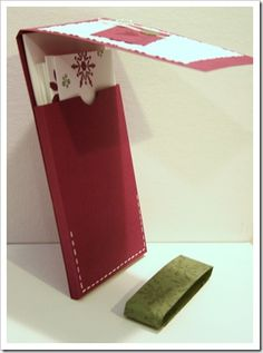 Picture tutorial for 3x6 card pouch. -So can use this to make my own cd holder!