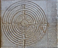 Labyrinth on the portico of the cathedral of San Martino at Lucca, Tuscany, Italy Masonic Symbols, Ancient Symbols, Labyrinth Maze, Labyrinth Garden, Sacred Geometry Symbols, Creta, Saint Martin, Ancient Mysteries, Image Of The Day