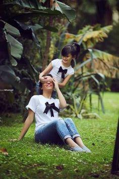 roupa simples mãe e filha