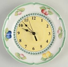 Amazon.com | Villeroy U0026 Boch French Garden Fleurence Clock Plate HC, Fine  China
