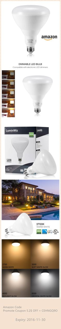 $6.49 LuminWiz 17W 2700K 1400lm BR40 LED Bulbs,Warm White Dimmable Flood Light Bulb,100W Equivalent ## Pls Dont miss this deal ,which share is the Amazon Coupon Code : CEHNGQ9O = $5.2 off