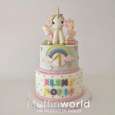 Torta unicorno per il primo compleanno 1 birthday Unicorn cake