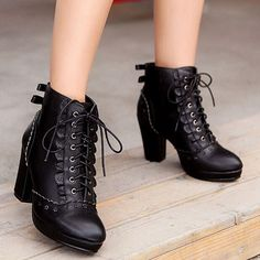 """Sweet high heel bowknot Martin boots.  Use this coupon code """"playbanovici"""" to get all 10% off!"""