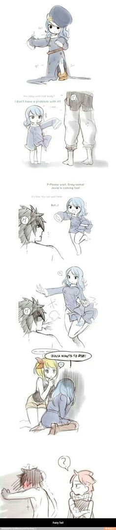 OMG ! Juvia just looks so adorable and you know Gray got a good look ;P