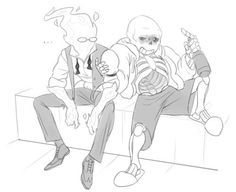 Sans X Grillby - Google Search