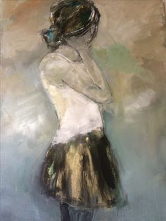 Looking back 100140 cm Figure Painting, Painting & Drawing, People Art, Figurative Art, Love Art, Art Education, Painting Inspiration, Art Projects, Abstract Art