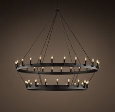 Camino Two-Tier Chandelier from Restoration Hardware for my cathedral ceiling great room