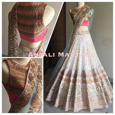 Model Net Designer Lehenga In Off White Colour Indian Party Wear, Indian Bridal Wear, Indian Wear, Indian Dresses, Indian Outfits, Indian Look, Indian Lehenga, Lehenga Choli, Desi Clothes
