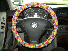 Autism Awareness Steering Wheel Cover by mammajane on Etsy, $14.00   Love this!!!