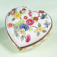 Limoges Spring Garden Heart Box.