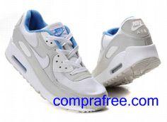 new products e34da 2c896 Comprar baratos mujer Nike Air Max 90 Zapatillas (colorblanco,gris,azul)  en linea en Espana.