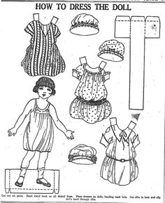 How To Dress The Doll paper doll 11-12-22 / mostlypaperdolls