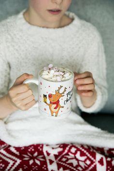 Cute Reindeer Mug Christmas 2019, Hot Chocolate, Reindeer, Festive, Mugs, Crockpot Hot Chocolate, Tumblers, Mug, Hot Fudge