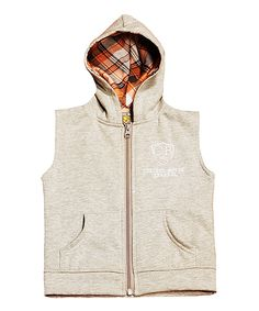 Love this College Boyys Oatmeal Sleeveless Hoodie - Toddler & Boys by College Boyys on #zulily! #zulilyfinds