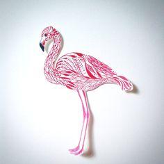 Flamingo Vogel Aufkleber, // SALE 3 für 2 // 100% wasserfester Vinyl-Aufkleber