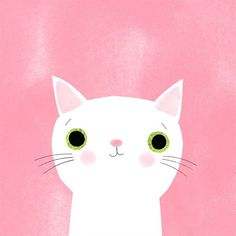 A pretty kitty for day 3 of this is Missy. Cars Cartoon Disney, Cute Cat Illustration, Illustration Animals, Cute Cat Drawing, Pretty Cats, Pretty Kitty, Pink Cat, Cute Cars, Pet Portraits