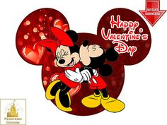 This is an adorable Mickey and Minnie Mouse Valentines Day - Disney World custom art file. See more Seasonal designs here: