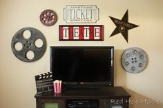 Movie theater wall pieces from Red hen home